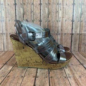 Mossimo Supply Co. Metallic Silver Wedges …
